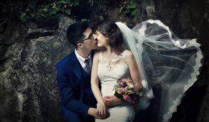 wedding photo on the vienna